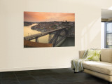 River Douro and Dom Luis I Bridge, Porto, Portugal Wall Mural by Alan Copson