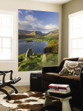 Grasmere Lake and Village from Loughrigg Fell, Lake District, Cumbria, England Wall Mural by Gavin Hellier