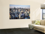 Shibuya Area Skyline with Shinjuku in the Background, Japan, Tokyo Mural por Steve Vidler