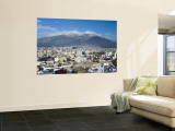 Pichincha Volcano and Quito Skyline, Ecuador Wall Mural by John Coletti