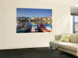 Venetian Harbour, Rethymno, Crete, Greece Wall Mural by Walter Bibikow