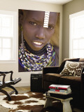 Portrait of a Girl of the Galeb Tribe, Lower Omo Valley, Ethiopia Wall Mural by Gavin Hellier