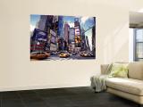 Times Square, ciudad de Nueva York, EE UU Mural por Doug Pearson