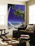 Hammock on Beach, Danarau, Viti Levu, Fiji Wall Mural by Neil Farrin