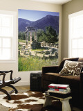 Sanctuary of Athena Pronaia, Delphi, Greece Wandgemälde von Peter Adams