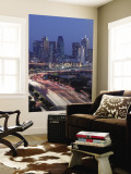 Skyline and Stemmons Freeway, Dallas, Texas, USA Wall Mural by Walter Bibikow