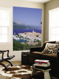 Korcula Island, Town Skyline and Coastline, Korcula, Adriactic Islands, Croatia Wall Mural by Steve Vidler