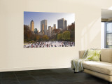 Wollman Icerink at Central Park, Manhattan, New York City, USA Wall Mural by Alan Copson