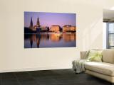City Skyline and Binnenalster Lake, Hamburg, Schleswig-Holstein, Germany Wall Mural by Steve Vidler