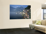 Village with Mountains and Lake, Hallstatt, Salzkammergut, Austria Wall Mural by Steve Vidler