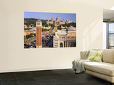 Plaza Espana and National Palace, Barcelona, Catalunya, Spain Wall Mural by Gavin Hellier