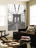 Manhattan and Brooklyn Bridge, New York City, USA Muurposter van Alan Copson