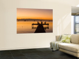 Jetty at Sunset, Caye Caulker, Belize Wall Mural by Russell Young