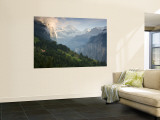 Wengen and Lauterbrunnen Valley, Berner Oberland, Switzerland Wall Mural by Doug Pearson