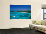Deep Bay, Beach and Yachts, Blue Water, Antigua, Caribbean Islands Wall Mural by Steve Vidler