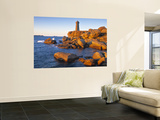 Ploumanach Lighthouse, Cote de Granit Rose, Cotes d'Amor, Brittany, France Wall Mural by Doug Pearson