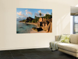 Anse Source d&#39;Argent Beach, La Digue Island, Seychelles Wall Mural by Michele Falzone