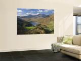 View to Llynnau Mymbyr and Mt Snowdon, North Wales Wandgemälde von Peter Adams