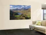 View to Llynnau Mymbyr and Mt Snowdon, North Wales Wall Mural by Peter Adams
