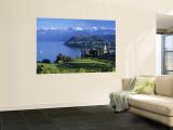 Spiez, Lake Thun, Berner Oberland, Switzerland Wandgemälde von Peter Adams