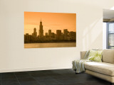 Lake Michigan and Skyline Including Sears Tower, Chicago, Illinois Wall Mural by Alan Copson