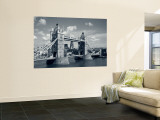 Tower Bridge and Thames River, London, England Wall Mural by Steve Vidler