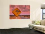 Road Sign, Shark Bay National Park, Western Australia, Australia Mural por Doug Pearson