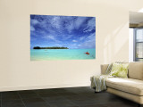 Kayaker, Muri Beach, Rarotonga, Cook Islands Wall Mural by Walter Bibikow
