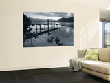 Tranquil Landscape and Pier, Derwent Water, Lake District, Cumbria, England Wall Mural by Peter Adams