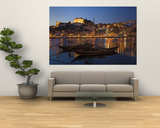 Ponte de Dom Luis I and Port Carrying Barcos, Porto, Portugal Wall Mural by Alan Copson