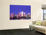 Canary Wharf and Docklands Skyline, Docklands, London, England Mural por Steve Vidler
