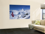Gornergrat Mountain, Zermatt, Valais, Switzerland Wall Mural by Walter Bibikow