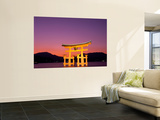 Miyajima Island, Itsukushima Shrine, Torii Gate, Night View, Honshu, Japan Wall Mural by Steve Vidler