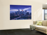 Skyline of Minneapolis, Minnesota, USA Wall Mural by Walter Bibikow