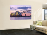 Opera House and Harbour Bridge, Sydney, New South Wales, Australia Wall Mural by Michele Falzone