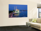Bosphoros River Bridge and Ortakoy Camii Mosque, Ortakoy District, Istanbul, Turkey Wall Mural by Gavin Hellier