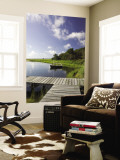 Sengekontacket Pond, Oak Bluffs, Martha's Vineyard, Massachusetts, USA Wall Mural by Walter Bibikow