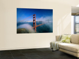 Golden Gate Bridge with Mist and Fog, San Francisco, California, USA Wall Mural by Steve Vidler