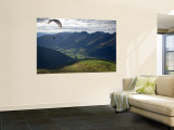 Paragliding, Jacobshorn, Davos, Graubunden, Switzerland Wall Mural by Doug Pearson