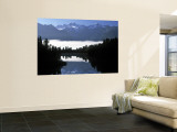 Lake Matheson, Mt. Cook, New Zealand Wall Mural by Peter Adams