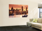 London and River Thames, England Wall Mural by Doug Pearson
