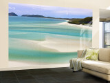 Playa Whitehaven, Islas Witsunday, Queensland, Australia Gran mural por Michele Falzone