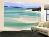 Whitehaven Beach, Whitsundayöarna, Queensland, Australien Muraltryck – Stort av Michele Falzone