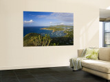 Caribbean, Antigua, English Harbour from Shirley Heights Looking Towards Nelson's Dockyard Wall Mural by Gavin Hellier