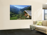 Alpine Cabin, Wengen and Lauterbrunnen Valley, Berner Oberland, Switzerland Wall Mural by Doug Pearson