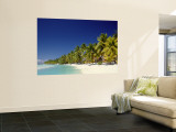 Palm Trees and Tropical Beach, Aitutaki Island, Cook Islands, Polynesia Wall Mural by Steve Vidler
