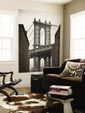Manhattan Bridge and Empire State Building, New York City, USA Reproduction murale par Alan Copson
