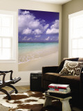 Tropical Beach at Maldives, Indian Ocean Wall Mural by Jon Arnold