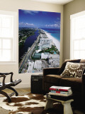 Miami Beach Skyline, Aerial, Miami, Florida, USA Mural por Steve Vidler