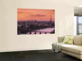 Eiffel Tower and River Seine, Paris, France Wall Mural by Walter Bibikow